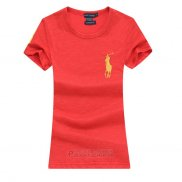 Ralph Lauren Femme Pony Polo T-shirt Rouge2