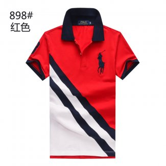 Ralph Lauren Homme 898 Pony Polo Rouge Blanc