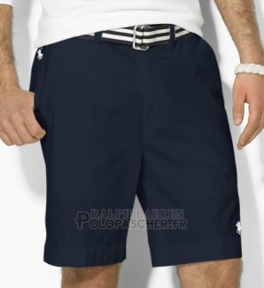 Ralph Lauren Homme Casual Short Pants Belt Pocket Pony Polo Bleu Acier
