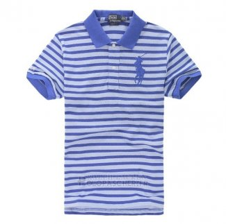 Ralph Lauren Homme Pony Polo Stripe Polo Bleu