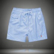 Ralph Lauren Homme Shorts Lacing Mesh Polo Stripe Bleu Brillante