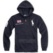 Ralph Lauren Homme Sweatshirts Full Zip Pony Polo Great Britain Noir