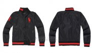 Ralph Lauren Homme Vestes Zip Collar Pony Polo Stripe Noir Rouge