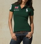 Ralph Lauren Femme Flag Polo Great Britain Vert