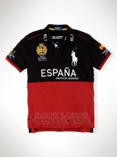 Ralph Lauren Homme City Polo Racing Espana Noir Rouge
