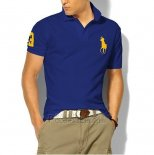 Ralph Lauren Homme Classic Fit Pony Polo Or Logo Bleu