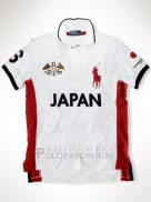 Ralph Lauren Homme Flag Polo Japan Blanc Rouge