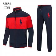Ralph Lauren Homme Polo 8868 Ensemble Survetement Sombre Bleu Rouge