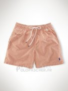 Ralph Lauren Homme Shorts Lacing Mesh Polo Stripe Bleu Orange