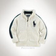 Ralph Lauren Enfant Pull Pony Polo Full Zip Blanc