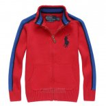 Ralph Lauren Enfant Pull Pony Polo Full Zip Rouge