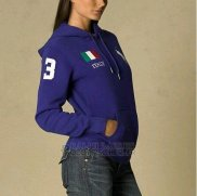 Ralph Lauren Femme Flag Polo Sweatshirts France Bleu