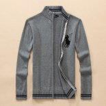 Ralph Lauren Homme 8026 Pull With Full Zipper Noir Gris