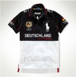 Ralph Lauren Homme City Polo Racing Deutschland Noir Blanc