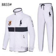 Ralph Lauren Homme Polo 8833 Ensemble Survetement Blanc