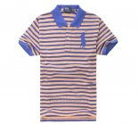 Ralph Lauren Homme Pony Polo Stripe Polo Orange Bleu