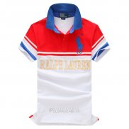 Ralph Lauren Homme Pony Polo Stripe Rouge Blanc