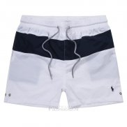 Ralph Lauren Homme Shorts Lacing Mesh Polo Stripe Blanc