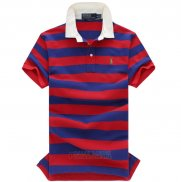 Ralph Lauren Homme Stripe Polo Rouge