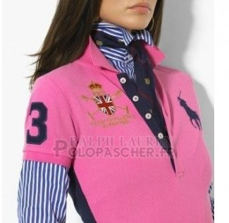 Ralph Lauren Femme Classic Fit Pony Polo Mercer Polo Rosa