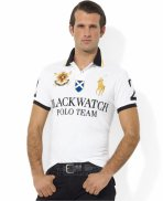 Ralph Lauren Homme Black Watch Polo Bleu Blanc