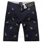 Ralph Lauren Homme Casual Short Pants Belt Dogs Pattern Noir