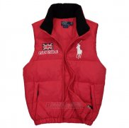 Ralph Lauren Homme Gilet Matelasse Pony Polo Flag Great Britain Rouge
