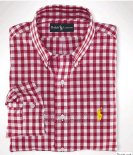 Ralph Lauren Homme Largo Chemise Colorful Mesh Polo Grid Rouge