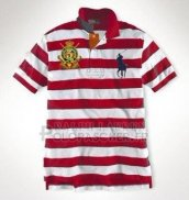 Ralph Lauren Homme Pony Polo Stripe Polo Rouge3