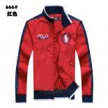 Ralph Lauren Homme Vestes Zip Collar Pony Polo Rouge