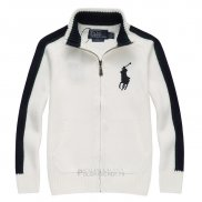 Ralph Lauren Enfant Pull Pony Polo Full Zip Blanc2