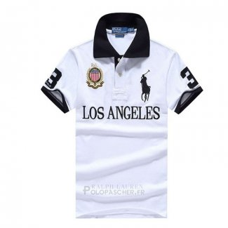 Ralph Lauren Homme City Polo 3 Los Angeles Blanc