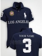 Ralph Lauren Homme City Polo 3 Los Angeles Fonce Bleu