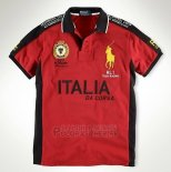 Ralph Lauren Homme Flag Polo Racing Italia Rouge