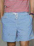 Ralph Lauren Homme Shorts Lacing Mesh Polo Stripe Bleu