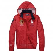 Ralph Lauren Homme Vestes Hooded Pony Polo 1967 Rouge