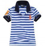Ralph Lauren Enfant Pony Polo Stripe Bleu