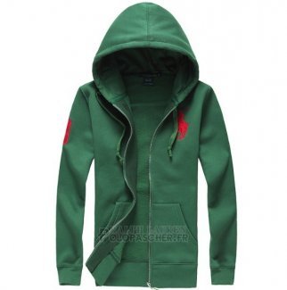 Ralph Lauren Femme Full-zip Polo Sweatshirts Vert Rouge