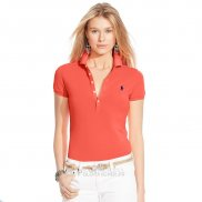 Ralph Lauren Femme Manche Courte Mesh Polo Orange