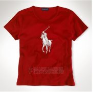 Ralph Lauren Femme Slim Fit Pony Polo T-shirt Rouge