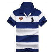 Ralph Lauren Homme 1803 Stripe Polo Flag USA Blanc Bleu
