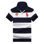 Ralph Lauren Homme 1803 Stripe Polo Flag USA Blanc Noir
