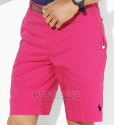 Ralph Lauren Homme Casual Short Pants Belt Pocket Pony Polo Rose