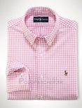 Ralph Lauren Homme Colorful Mesh Polo Grid Rosa Blanc