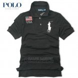 Ralph Lauren Homme Flag Polo Usa Noir