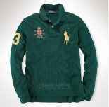 Ralph Lauren Homme Polo Manches Longues Pony Polo Fonce Vert