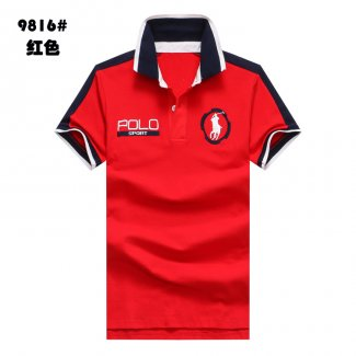 Ralph Lauren Homme Polo Sport 9816 Pony Polo Rouge