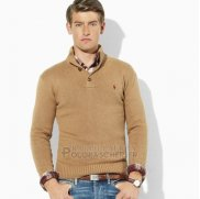 Ralph Lauren Homme Pull With Half Button Clair Tan