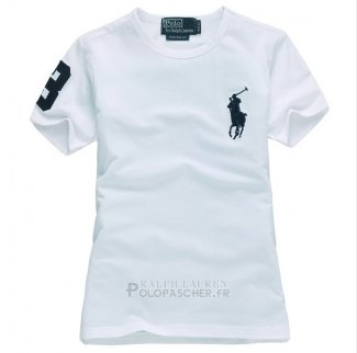 Ralph Lauren Enfant Pony Polo T-shirt Blanc