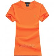 Ralph Lauren Femme Mesh Polo T-shirt Orange